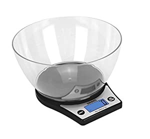 Duronic Digital Display 5kg Kitchen / Postal Scales with a Large 2 Litre Bowl and a Tare Function from Duronic