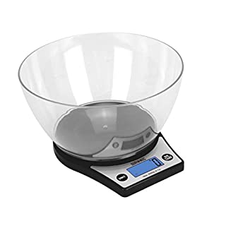 Duronic Kitchen Scales KS6000 Digital Display 5kg Kitchen/Postal Scales with a Large 2 Litre Bowl and a Tare Function