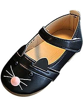 JIANGFU Kinderbaby-Mode Prinzessin Cat Dance Nubukleder Einzelne Schuhe, Kinderschuhe Cartoon Katzen Freizeitschuhe...