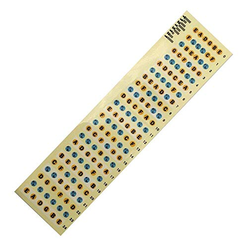 Musical Instruments 9*1cm Fretboard Notes Map Labels Sticker Fingerboard Fret Decals For 6 String Guitar Bringing More Convenience To The People In Their Daily Life Sports & Entertainment