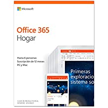 Microsoft Office 365 Hogar - Software para PC y Mac, Hasta 6 Usarios, Suscripción 1 Año