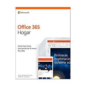 office 365 personal: Microsoft Office 365 Hogar - Software para PC y Mac, Hasta 6 Usarios, Suscripció...