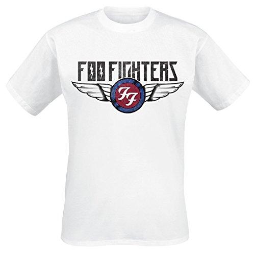 Foo fighters flash wings t-shirt bianco m