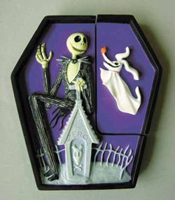 Nightmare Before Christmas Jack Skellington & Zero Puzzle Magnet Set by Nightmare Before Christmas