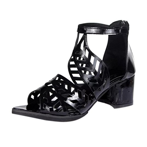VEMOW Sandals for Women Ladies Girls 2018 Spring Summer New UK Vintage Women  Shoes Pu Party Daily Sexy Black White Comfortable Platform Wedge ... 381327f95