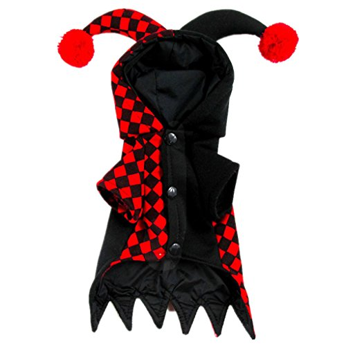 Phenovo Halloween Pet Apparel Clown Costume Dog Coat Jacket Cosplay Outfit Hoodie XS