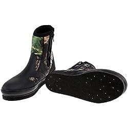 Toygogo Botas Antideslizantes Zapatos con Clavos Clavos para Pescar Rastreo De Ríos Buceo Camuflaje - Camuflaje, 10