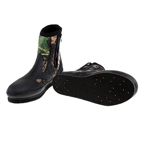 Sharplace Impermeable Botas Zapatos de Pesca Deportes Accesorios Antideslizante de Camuflaje - Camuflaje, 10