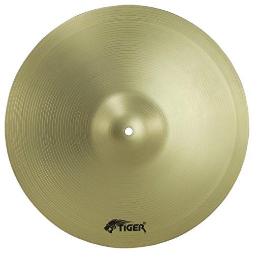 "Tiger Cymbal Set - 16"" Crash, 20"" Ride & 14"" Hi-Hats - Drum Cymbal Pack"