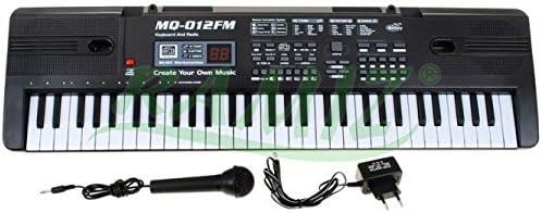 Clavier MQ-012FM avec avec avec fonction d'enregistreHommes t, microphone, RADIO - 16 sons et 10 rythmes, haut-parleur, contrôle du volume, 61 touches, écran LCD B01EVQO43W ce2cef