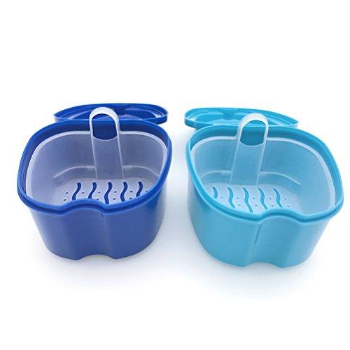 Descripción   El estuche para dentaduras viene con una canasta de enjuague, que ayuda a enjuagar las dentaduras y secarlas sin derramar el líquido en ningún otro lugar. Hay un pequeño soporte en la cesta de enjuague, fácil de recoger la cesta. El dis...