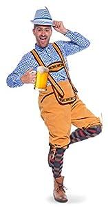 Folat 61455 adulto pantalones de cuero traje Oktoberfest