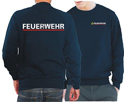 feuerwehr sweatshirt Sweatshirt navy, BaWü Stauferlöwe nach VwV mit Rückendruck FEUERWEHR