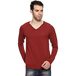Duke Stardust Men Solid Sweater Tan Coloured XX-Large