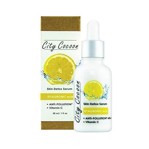 Detox-Serum mit Hyaluronsäure und Schutz vor dem städtischen Schmutz | Vitamin C | öko- zertifizierter Wirkstoff, der vor der städtischen Verschmutzung schützt | natürliche Inhaltsstoffe | 30 ml - Vitamin C Detox