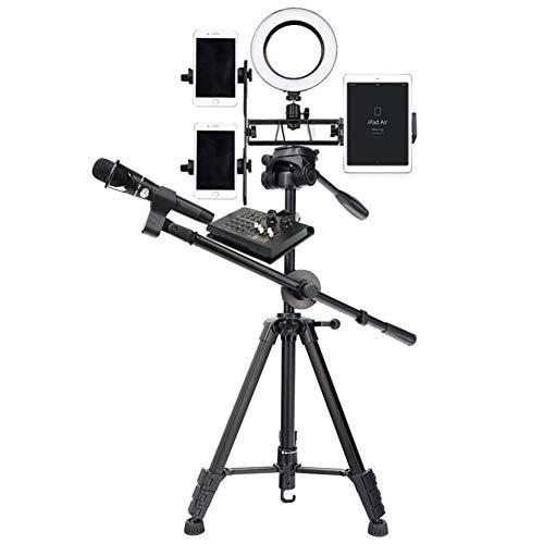 Dimmbares 3-Farben-LED-Ringbeleuchtungs-Kit for Smartphone-YouTube-Videoaufnahmen, Selbstporträt und Spiegelreflexkamera, mit Lichtstativ