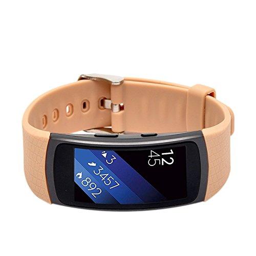 Preisvergleich Produktbild Woodln Gear Fit2 Smart Watch Zubehör Uhrenarmbänder Replacement Strap Band Uhrenarmband Erstatzband Armband für Samsung Gear Fit 2 R360 Fitness Smartwatch (Khaki)