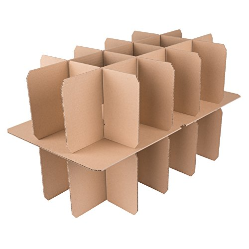 25 Gläserkartons mit 30/15 Fächern Flaschenkartons für Umzug Verpackung Umzugskartons - 2