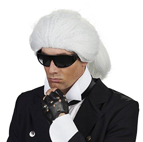 Andrea Moden - Perücke Karl - Karl Lagerfeld Kostüm