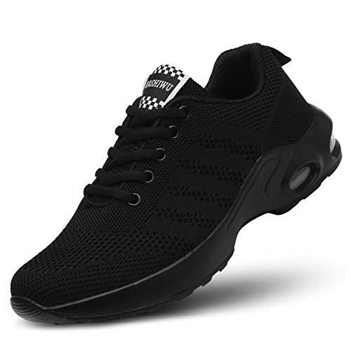 kashiwu Donna Air Scarpe da Ginnastica Corsa Sportive Fitness Running Sneakers Casual all'Aperto(Black/Black 38EU)