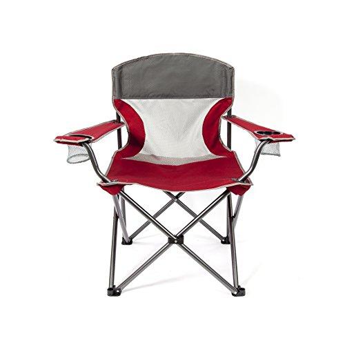 Mac Sports Heavy Duty Big Comfort XL zusammenklappbar Quad Outdoor Camp Stuhl Mit Tragetasche, rot