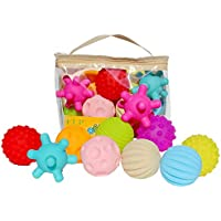 Yener Hand Ball Toys Rubber Textured Touch Ball Hand Sensory Niños Ball Toys Bath Hand Ball Toy para niños, TJ250 10pcs