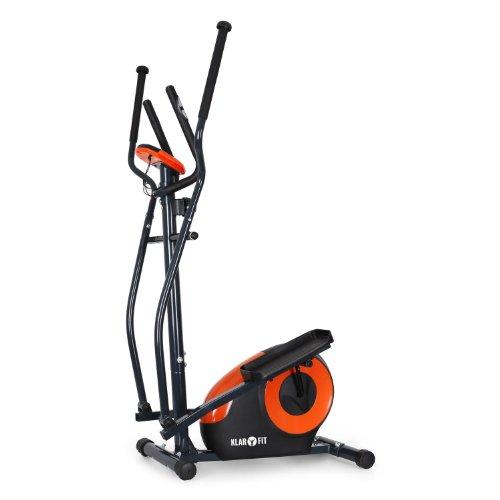 Klarfit Ellifit FX 250 Crosstrainer Nordic Walking Ellipsentrainer (inkl. Handpulsmesser, Trainingscomputer, für Personen mit einem Gewicht bis 110kg) schwarz-orange