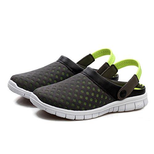 DoGeek Homme Femme Cool Plage Chaussures Mesh Respirante Sandales Sabots Summer Chaussons Été Anti-Slip Outdoor Chaussons Vert