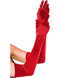 Better Dealz Lang Satinhandschuhe Hochzeit Party Damen Handschuhe GOGO Kostüm 54CM ,Schwarz Rot Weiß Lila Silber