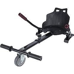 """ICAROTECH - HoverKart pour scooter électrique pour adultes et enfants Compatible avec Hoverboard 6.5 """" Noire"""