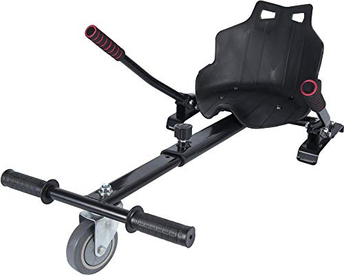 """ICAROTECH SISTEMS- HoverKart para Patinete Eléctrico para adulto y niños Compatible con Hoverboard 6,5\"""" Color Negro"""