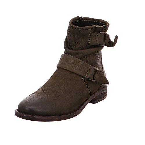 SPM Damen Cara Grüner Nubuk-Leder Ankle Boot Größe 37 Kaki Green (Boots Grüne Ankle)