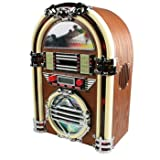 JUKEBOX JUKE BOX RETRO ANNEES 60 AVEC NEON RADIO AM/FM ET LECTEUR CD