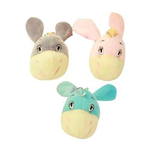 Newin Star Mini Plüsch Spielzeug, Niedliches Esel Plüsch Stofftier Spielzeug mit Saugnapf für Kinder Schlafzimmer und Auto Plüsch Puppe Anhänger, Zufällige Farbe