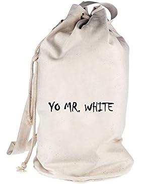 Shirtstreet24, YO MR. WHITE, bedruckter Seesack Umhängetasche Schultertasche Beutel Bag