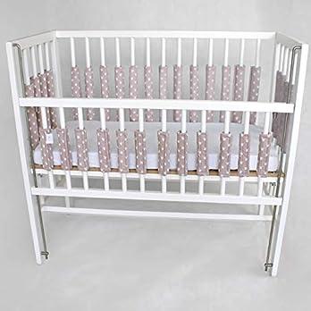 Nestchen für Babybett Verschlussgitter – Rosa