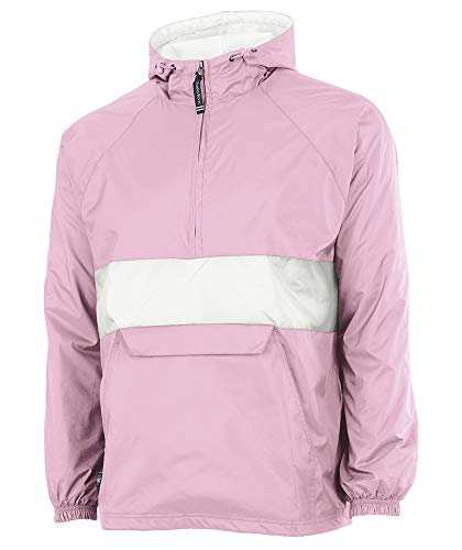 Charles River Apparel Regenjacke, Wind- und wasserabweisend, Unisex-Erwachsene - Pink - Large (Mens Winter Coats Big And Tall)