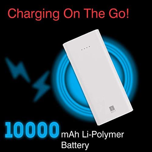 iBall 10000mAh Li-Polymer Slim Design Smart Charge Powerbank - LPS 10000 (White) Image 4