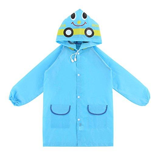 kinder - zeichentrickfilm regenmantel, Chickwin kinder und wasserdichte oxford tuch, kleidung und nur für jungs und mädchen, regenkleidung (Blau)