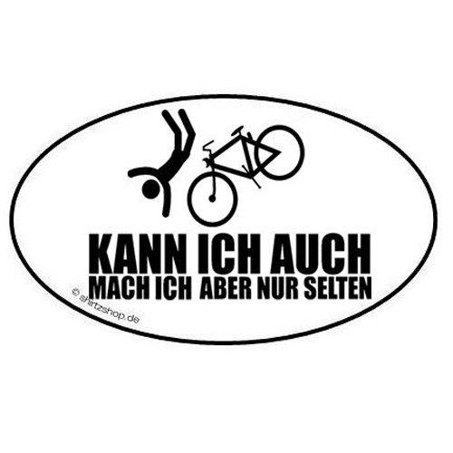 Mountain Bike Kann ich auch - mach ich aber selten Aufkleber Autoaufkleber Sticker (Seltene Patch)