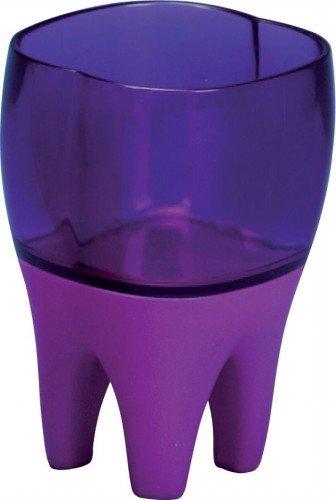 Sanwood 1045016 Zahnputzbecher Putzi lila, mit Lied und Lichteffekten, Kunststoff