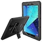 Temdan Samsung Galaxy Tab S3 Wasserdichte Hülle Robuste Glatte Durchsichtige Wasserfeste Hülle mit Eingebautem Bildschirmschutz Stoßfeste Wasserdichte Schutzhülle für Samsung S3 Tablet 9,7 Zoll