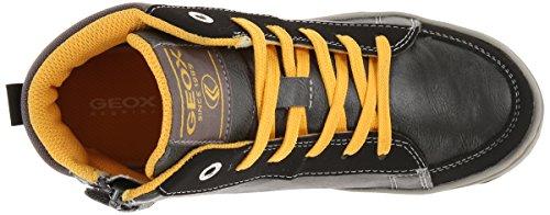 Geox Maltin E Jungen Sneaker Dark Grey/Ochre yellow