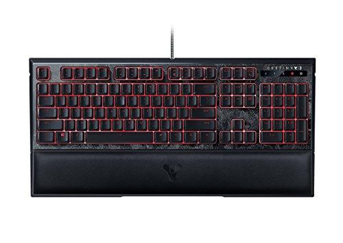 Razer Destiny 2 Ornata Chroma: Mecha-Membran - individuell beleuchtete mittelhohe Tasten - Kunstleder-Handgelenkauflage - Gaming-Tastatur (Zertifiziert generalüberholt) -