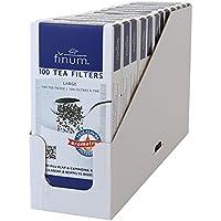 Finum–Filtros para té (Papel, 100Tamaño S, 12Tray