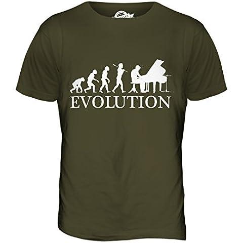 CandyMix Pianoforte Evoluzione Umana T-Shirt da Uomo