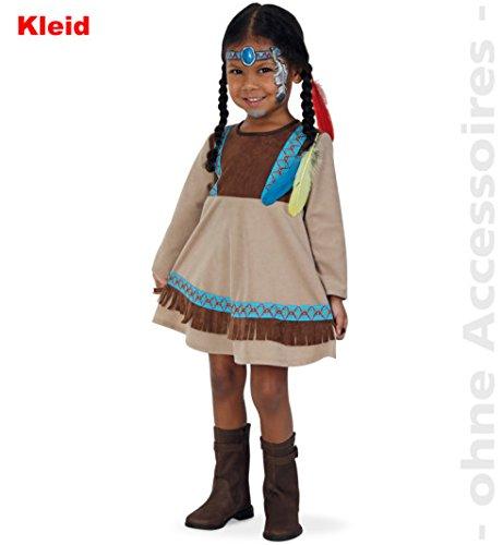 Indianerin Kleine Feder Indiandermädchen Kleid Baby Kleinkind Kostüm Kinder-Kostüm Gr 86 (Baby-und Kleinkind-kostüme)