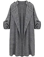 FEITONG De las mujeres Zanja Capa Capa larga chaquetas Sobretodo Cascada Cárdigan
