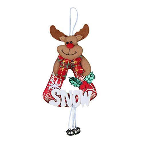 Heetey Weihnachten Frohe Christbaumschmuck Christbaumschmuck Anhänger Holzschmuck Der kleine Anhänger des Weihnachtsbaums hängende Kaminfensterglocken des hölzernen Karte des Alten Mannes Anhänger -