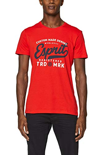 ESPRIT Herren 999EE2K800 T-Shirt, Rot (Orange Red 635), X-Large (Herstellergröße: XL)